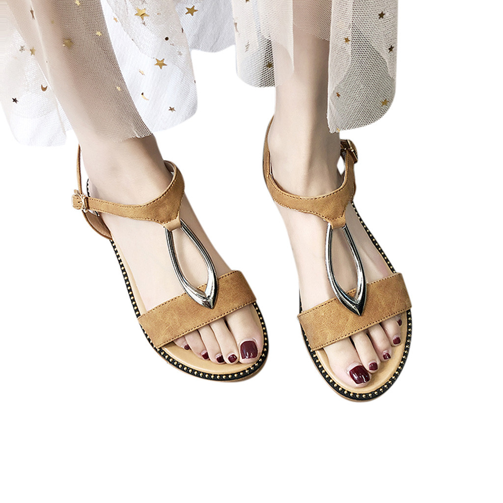 2019 New Hot Sale Summer Ladies Fashion Flat Fish Mouth Open Toe Casual Word Buckle Sandals Sandalias de moda de las mujeres2019 New Hot Sale Summer Ladies Fashion Flat Fish Mouth Open Toe Casual Word Buckle Sandals Sandalias de moda de las mujeres