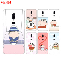 Crayon Shin Chan Funny Phone Back Case For OnePlus 7 Pro 6 6T 5 5T 3 3T 7Pro 1+7 Art Gift Patterned Customized Cases Cover Coque