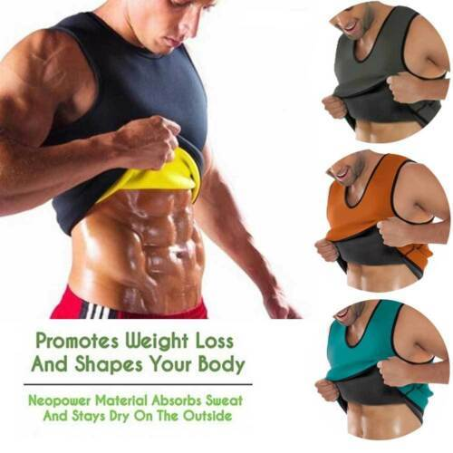 Men Waist Gym Neoprene Vest Sauna Ultra Thin Sweat Shirt Body Shaper Slimming Corset 2