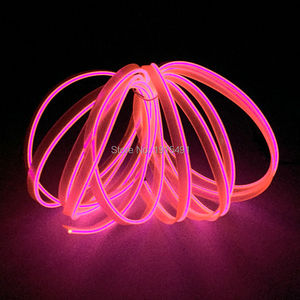 Cheap! 2.3mm-skirt 3Meter 10 Colors Choice, 1 PC EL Wire Novelty Light+Powered by 2-AA Batteries Driver, For Car Interior Decora