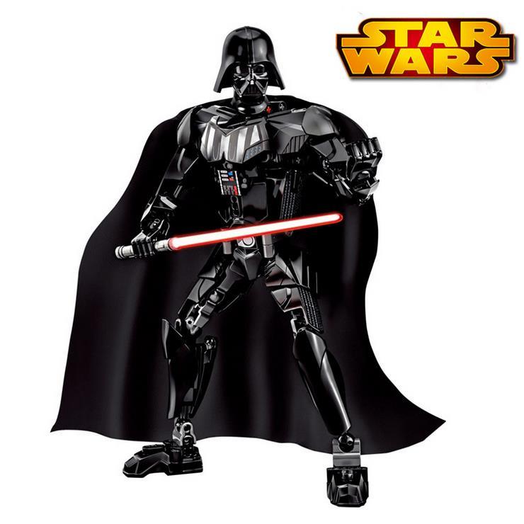 NEW KSZ Star Wars Darth Vader diy figures with Lightsaber White Storm Trooper Figure toys building blocks compatible