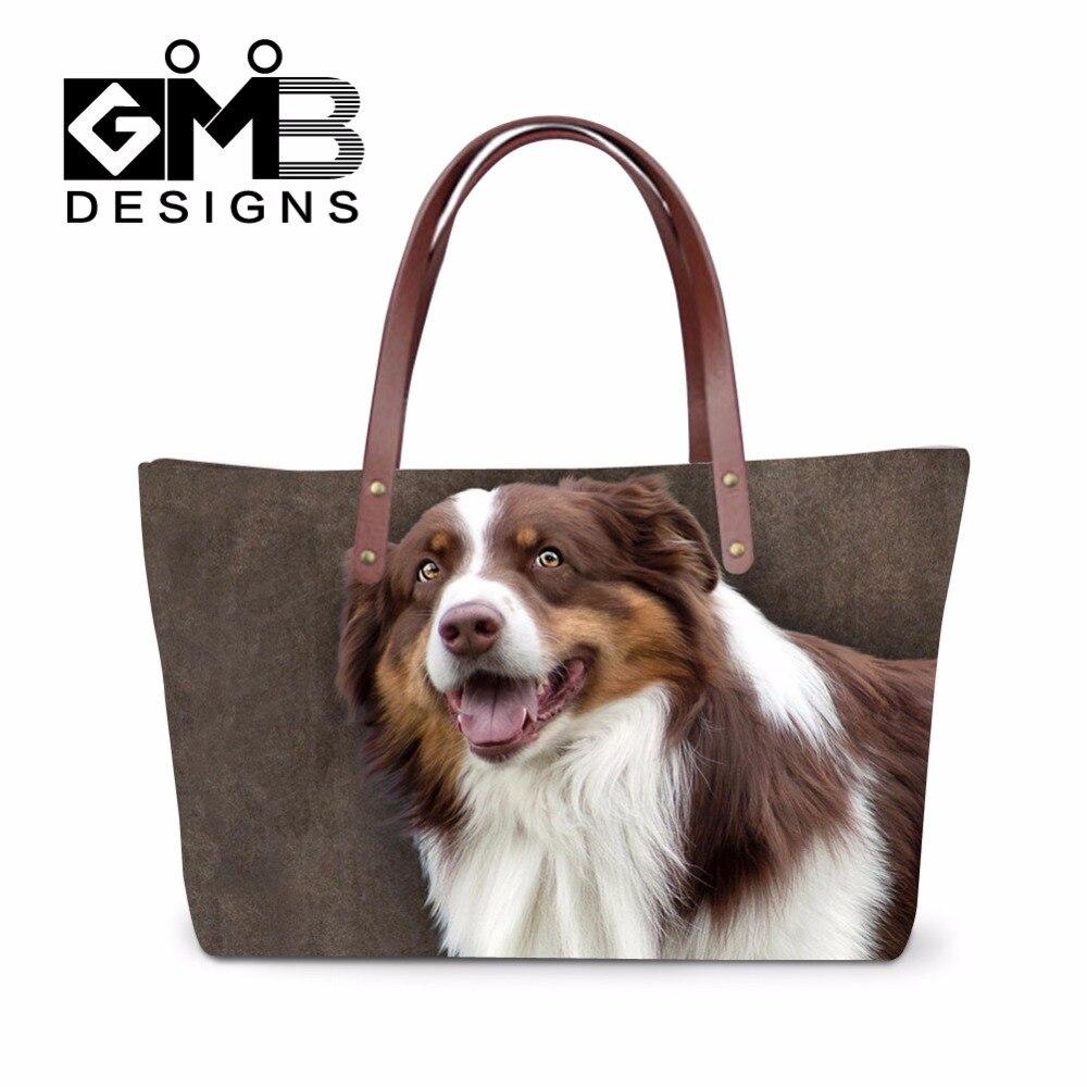 Latest Design The edge of Dogs Women Handbags Fresh Shoulder Bags for Ladies Portable Hand Bag Casual Beach bag Bolas Femininas