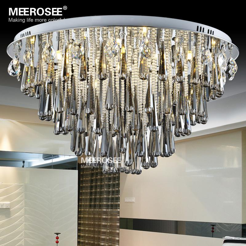 Круглые Хрустальные потолочные светильники G4 Lamparas De Techo Cristal Plafondlamp потолочный светильник фойе коридор лампы для гостиной