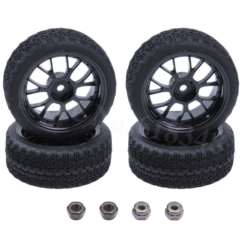 4 stks RC Banden Velgen 26mm Foam Insert Hex Mount 12mm Voor 1/10 On Road Model Auto onderdelen