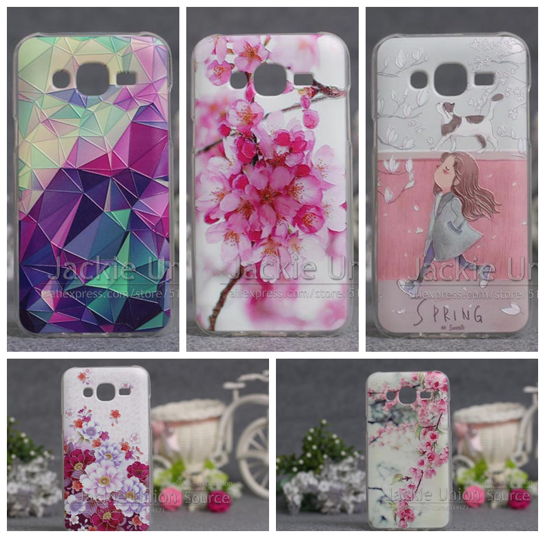 Luxury for Samsung Galaxy J5 Case Cover J500 J500F, Colorful 3D Painting Phone Back Protector Case for Samsung J5 Case Cover