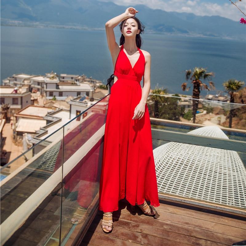 Red maxi dress ebay uk