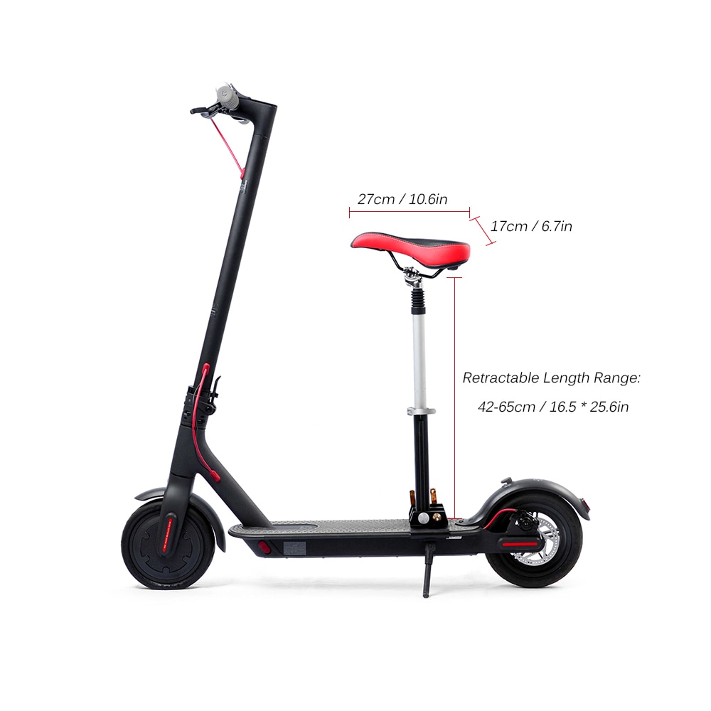 Bike Foldable Height Adjustable Saddle Set for Xiaomi Electric Scooter Chair M365 Retractable Seat with Bumper