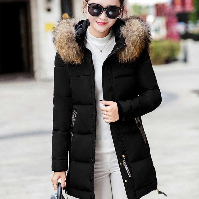 CHANGYUGE Large Fur Collar Women'S   Down     Coat   2017 Winter Jacket Women Hooded Long   Down   Jacket For Women Winter   Coat   Female Parka