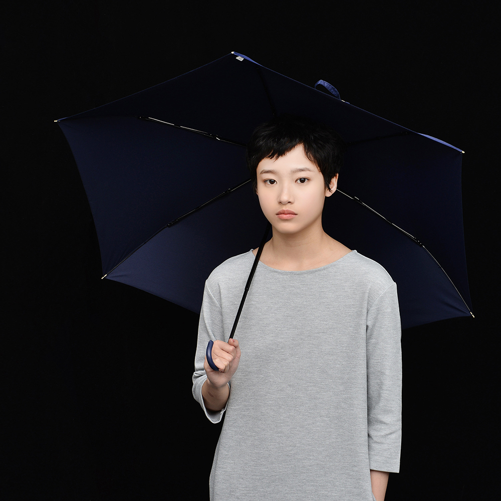 02b95f2ec3f4 US $15.56 27% OFF|TIOHOH Three Folding Rain Umbrella Women Anti UV  Sunscreen Parasol Windproof Hook Handle Paraguas Simple Color Sun  Umbrellas-in ...