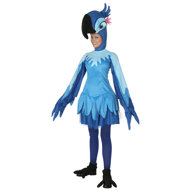 Parfait Adulte Rio Jewel Femmes Perroquet Oiseau Animal Cosplay Costume  LI76