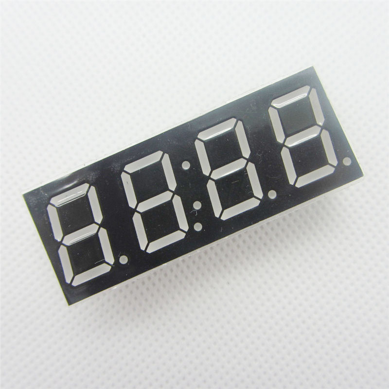 10 Pcs Common Cathode 4bit 4 Bit Digital Tube 0.56 Inch Red LED With Clock Digit 7 Segment (CLOCK)