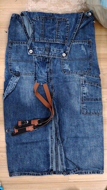 Fashion Maxi Denim Dress Summer Ladies Suspenders Holes Jean Dresses Female Loose Plus Size 5XL Bib Blue cowboy Long Dress 8075 4