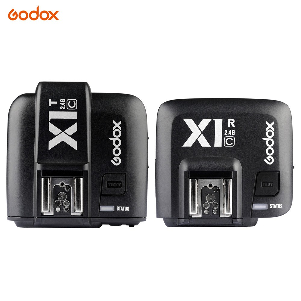 Godox 1* X1T-C 2.4G Wireless Flash Transmitter + 1* X1R-C TTL Receiver Trigger Set for Canon 1000D 600D 700D 650D 100D 550D 500D yn e3 rt ttl radio trigger speedlite transmitter as st e3 rt for canon 600ex rt new arrival