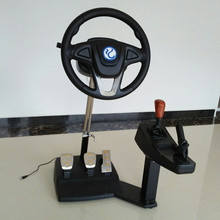 Computer game steering wheel / car driving simulator training aircraft /test drive school/ automobile race video software