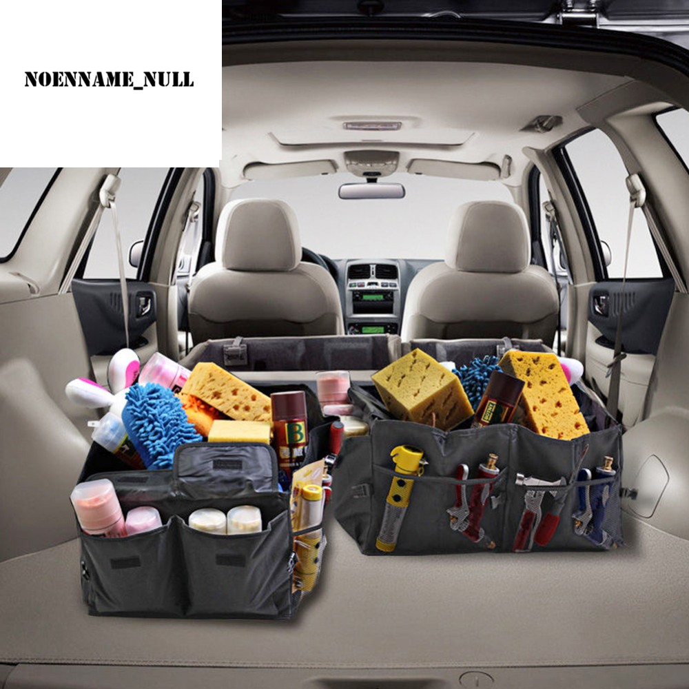 New 1PC Foldable Car Auto Back Rear Trunk Seat Big Storage Bag Pocket Organizer