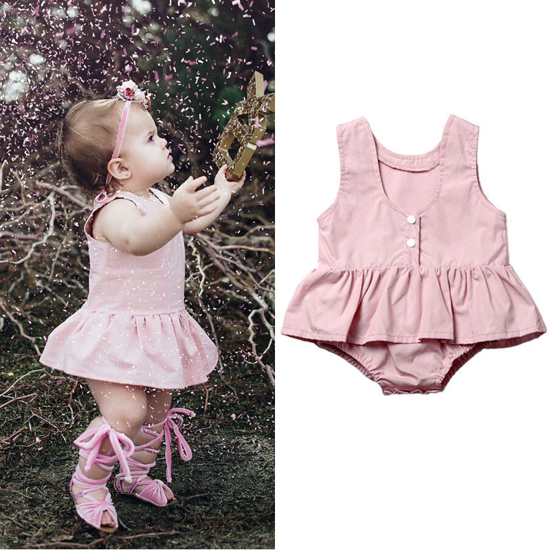 Pudcoco Cute Summer Newborn Toddler Baby Girl Infant Pink Clothes Lace Floral Romper Jumpsuit Playsuit Outfit puseky 2017 infant romper baby boys girls jumpsuit newborn bebe clothing hooded toddler baby clothes cute panda romper costumes