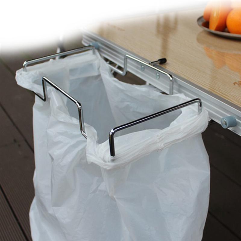 Ounona Cupboard Door Hanging Orgnaiser Waste Bin Bag Holder for Kitchen Bin Bag Holder Grey