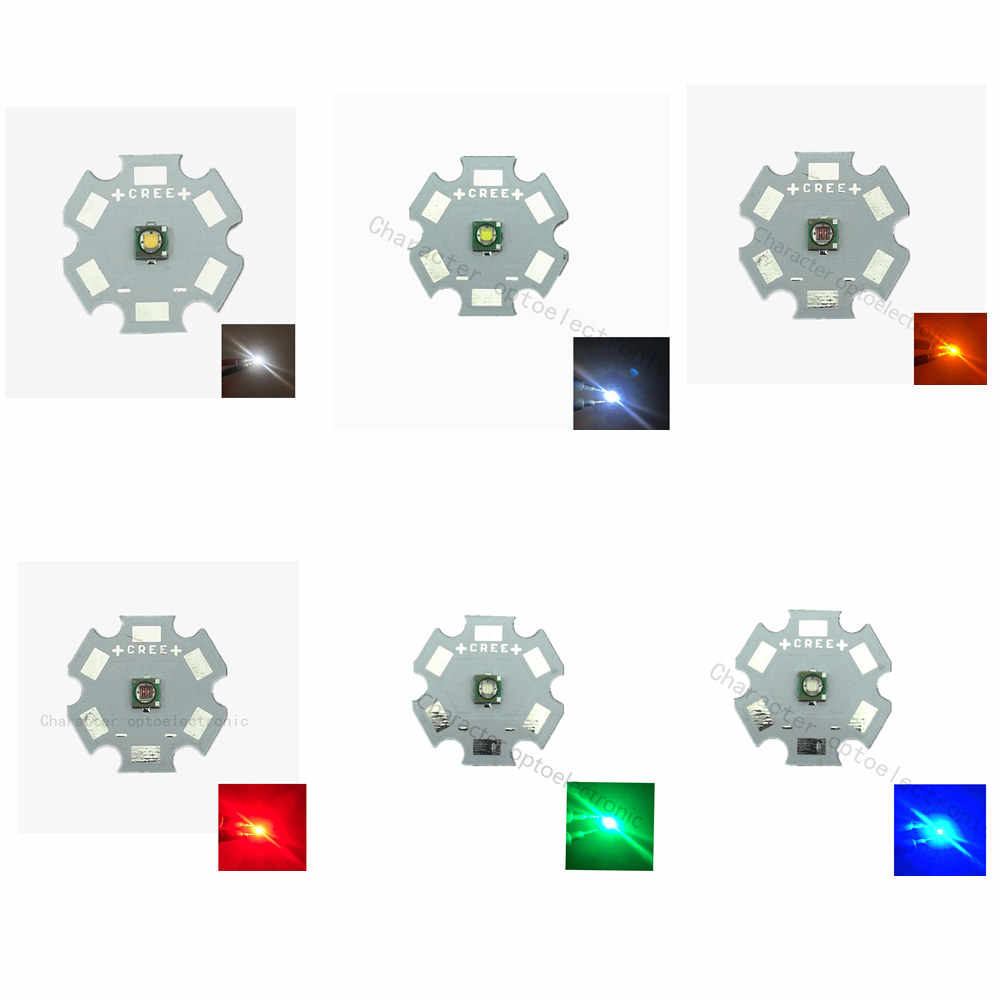 10x3 W Cree XPE XP-E גבוהה כוח LED פולט דיודה, אופציונלי ניטראלי לבן מגניב לבן חם לבן אדום ירוק כחול מלכותי כחול צהוב