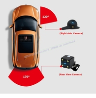 Car camera for Right left blind spot system Car rear view camera Parking System Mini Two Video Automatic Switch Control box