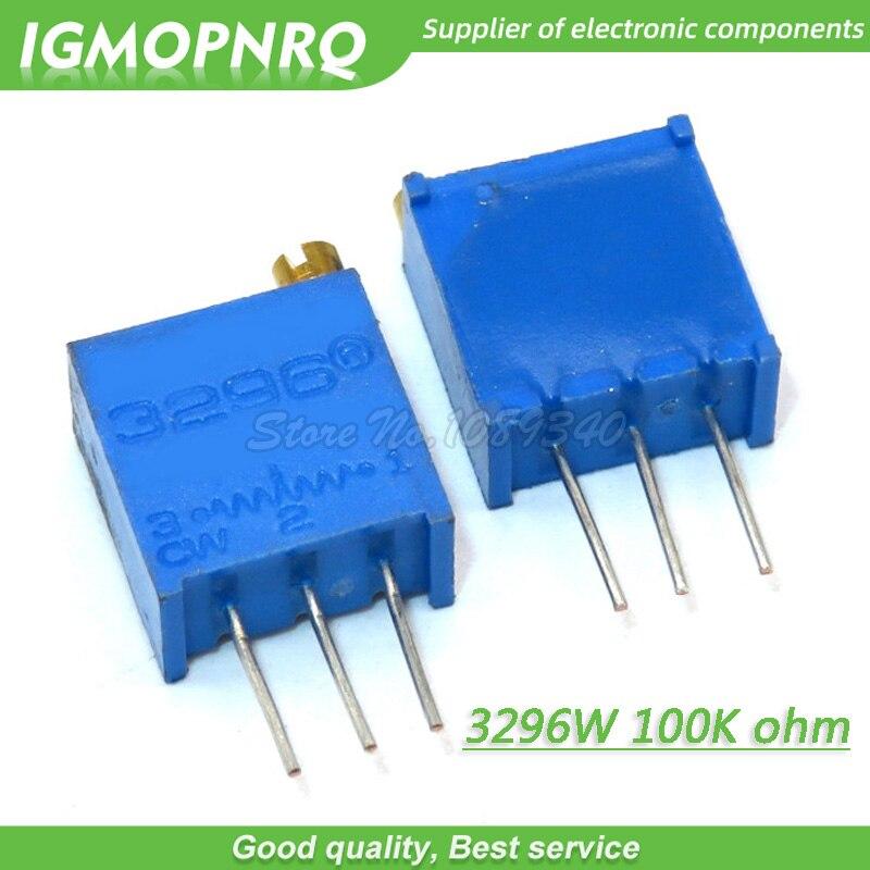 10 Pcs/lot 3296W-1-104LF 3296W 104 100K ohm haut de gamme potentiomètre réglable multitour résistance Variable de haute précision