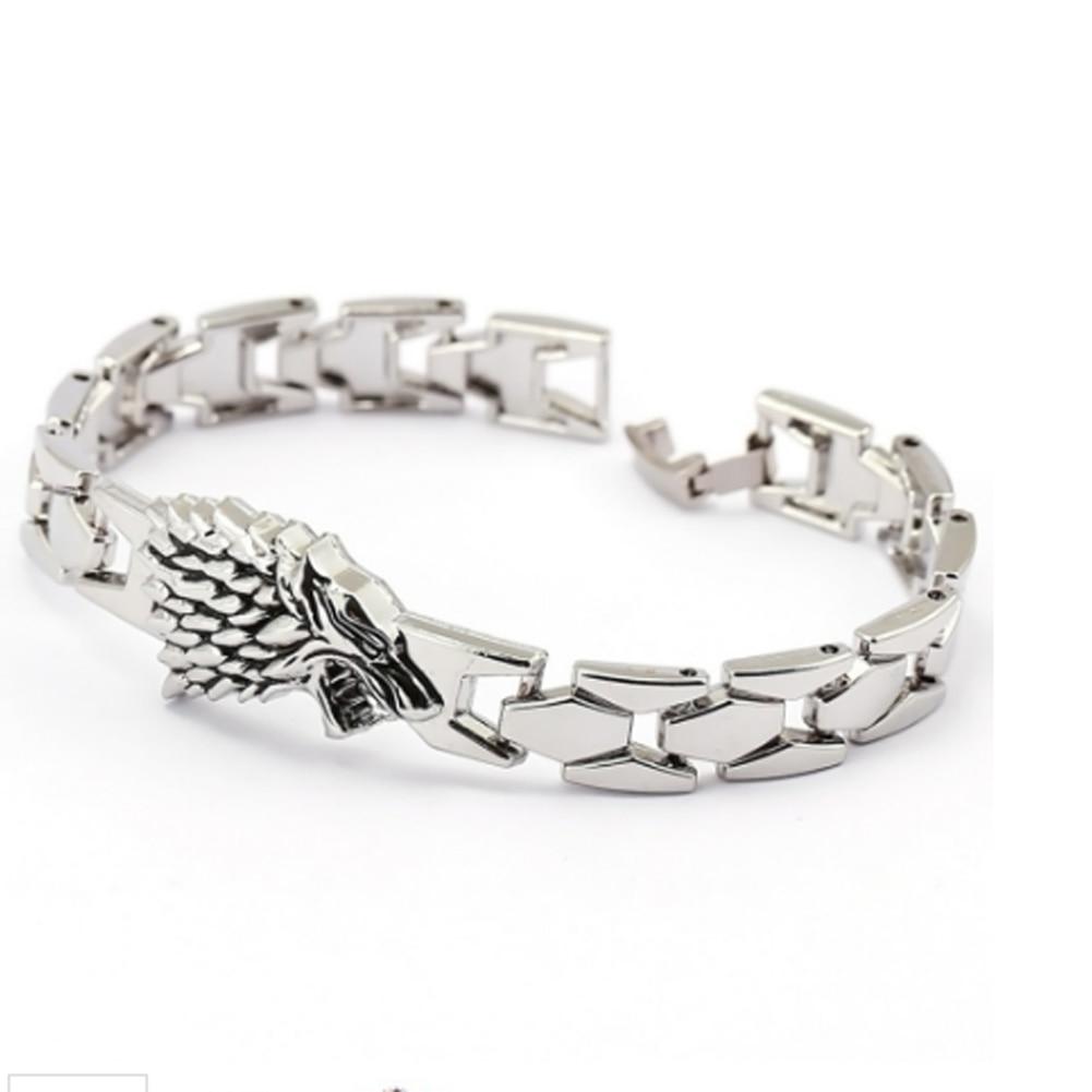 Wolf Charm Bracelet: Game Of Thrones Stark Family Bracelets Wolf Braclet Men