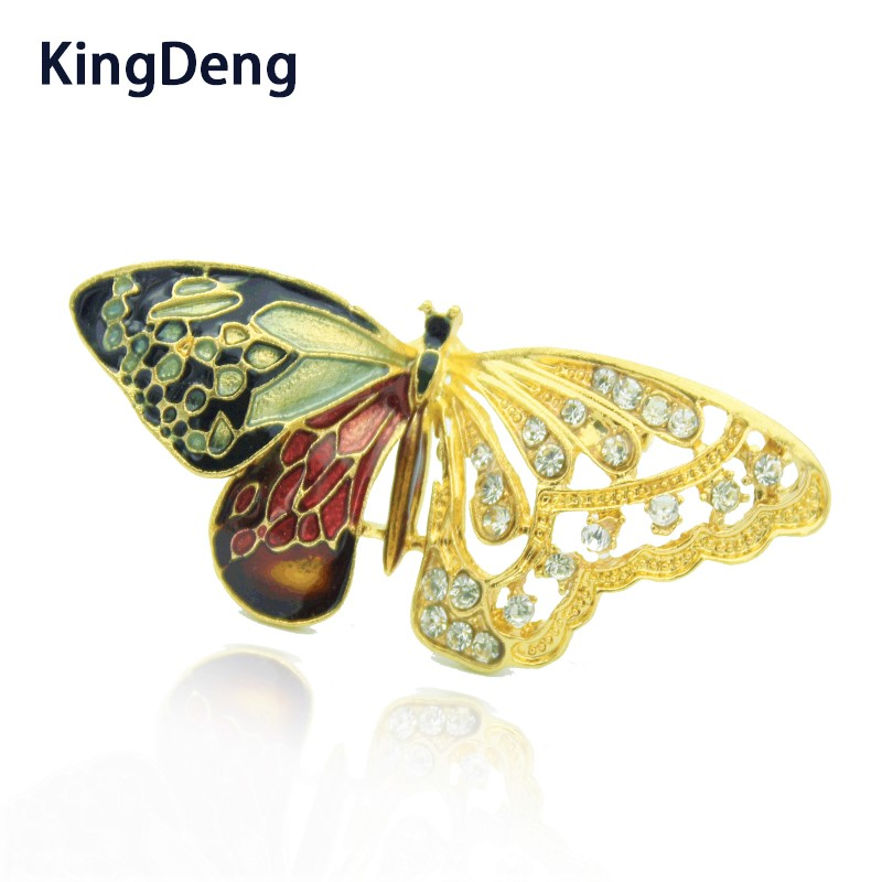 US $3 15 30% OFF Butterfly Brooches For Women Accessories Karl Jewelry  Scarf Lapel Pin Badge Kids Brooches Vintage Enamel Brooch Enamel Pins-in