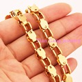 "7""-40"" Silver/Gold Charming New Bicycle Chain Women Mens Jewelry 100% 316L Stainless Steel 5mm Chain Necklace Jewellery"