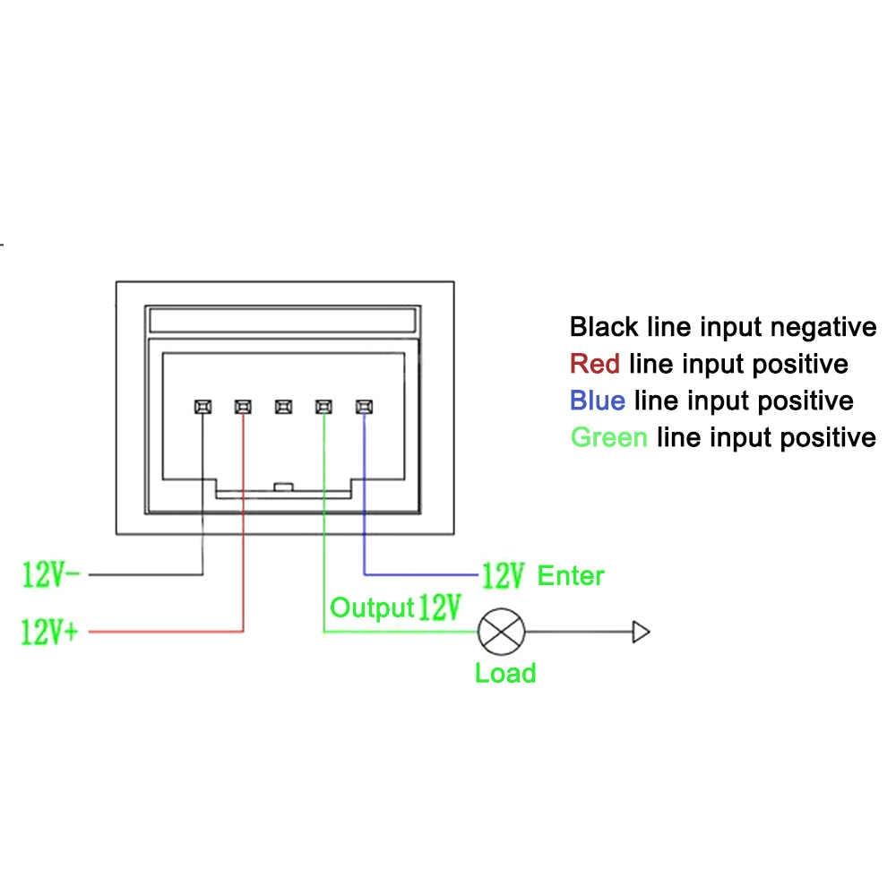 medium resolution of  1 pcs led light switch car truck blue dc 12 v 40a wiring harness loom relay