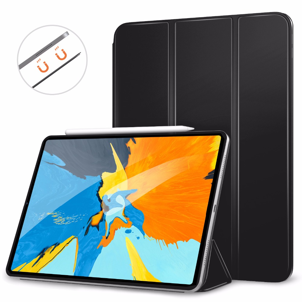 MoKo Case for iPad Pro 11 2018 Support Magnetically Attach Charge Pair Slim Lightweight Smart Shell
