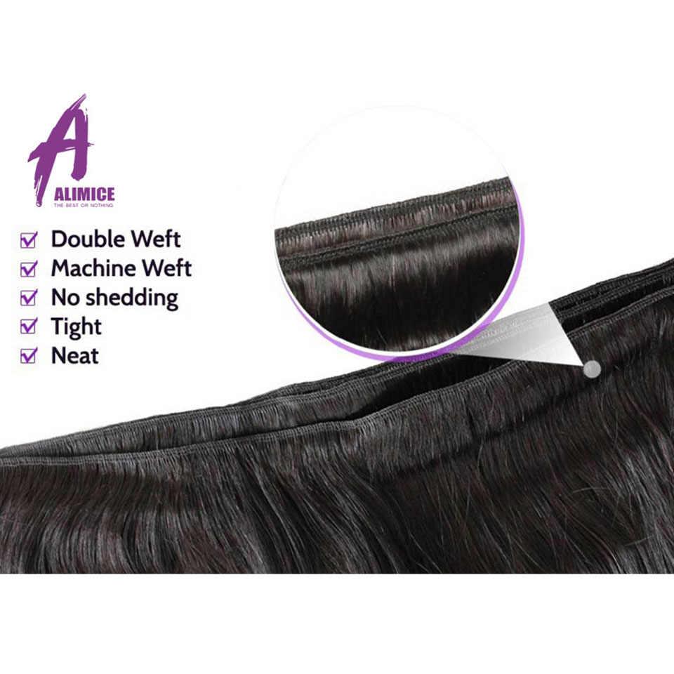 """Alimice пучки волос """"омбре"""" 3 тона бразильские прямые волосы пучки волос плетение #1b/4/27 Реми пучки волос человеческие волосы для наращивания"""