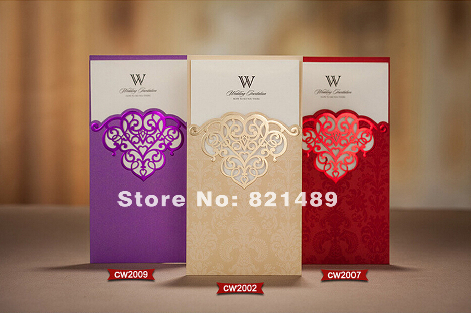 Get Quotations Colorful Wedding Red Purple European Creative Personalized Invitations Romantic Couples