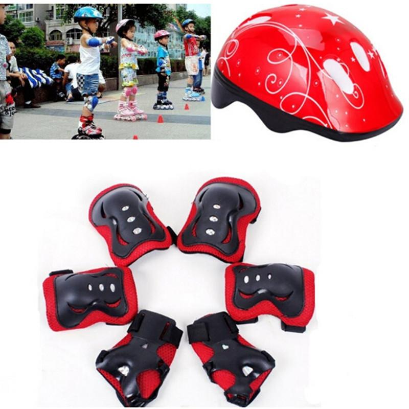 Bicycle Accessories Bicycle Helmets Kids Bike Helmet Mountain Road Bike Integrally Molded Cycling Helmets With Knee Elbow Wrist Pads Protection Safe Volume Large
