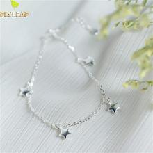 Flyleaf 925 Sterling Silver Pentagram Bracelets For Women Personality Star Simple Fashion Fine Jewelry & Bangles