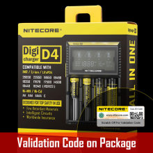 Original Nitecore D4 18650 Battery Charger with LCD Screen For IMR Li-ion LiFePO4 Ni-MH Ni-Cd Charging 26650 18650 14500 etc.(China)
