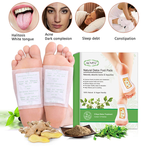 Image 4 - ALIVER 20pcs for 5 Days Detox Foot Patches Pads Body Toxins Feet Slimming Cleansing Herbal Adhesive