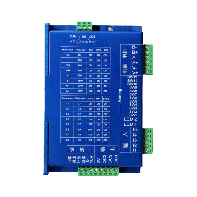 US $40 7 |Integrated stepper drive controller / single axis modbus rtu 485  controller / integrated drive controller-in Motor Driver from Home
