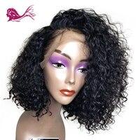 Eayon волосы бразильские remy волосы Глубокий завиток полный кружево человеческие волосы парики боб 130% плотность предварительно сорвал 13*4 коро