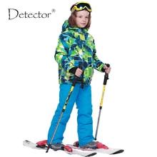 Detektor 2016 Jungen Ski Sets Winter Wasserdicht Winddicht Kinder Ski Jacke Kinder Im Freien Mit Kapuze Warme Snowboard Sport Anzüge
