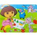 80 Шт. древесины головоломки/cattoon животных деревянные головоломки для детей развивающие игрушки для детей, бесплатная доставка