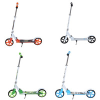 2018 Easy Folding Two 205mm Wheel Height Adjustable Adult Kick Scooter Portable Bicycle Quiet Urban Campus Transportation|Scooter Parts & Accessories| |  -