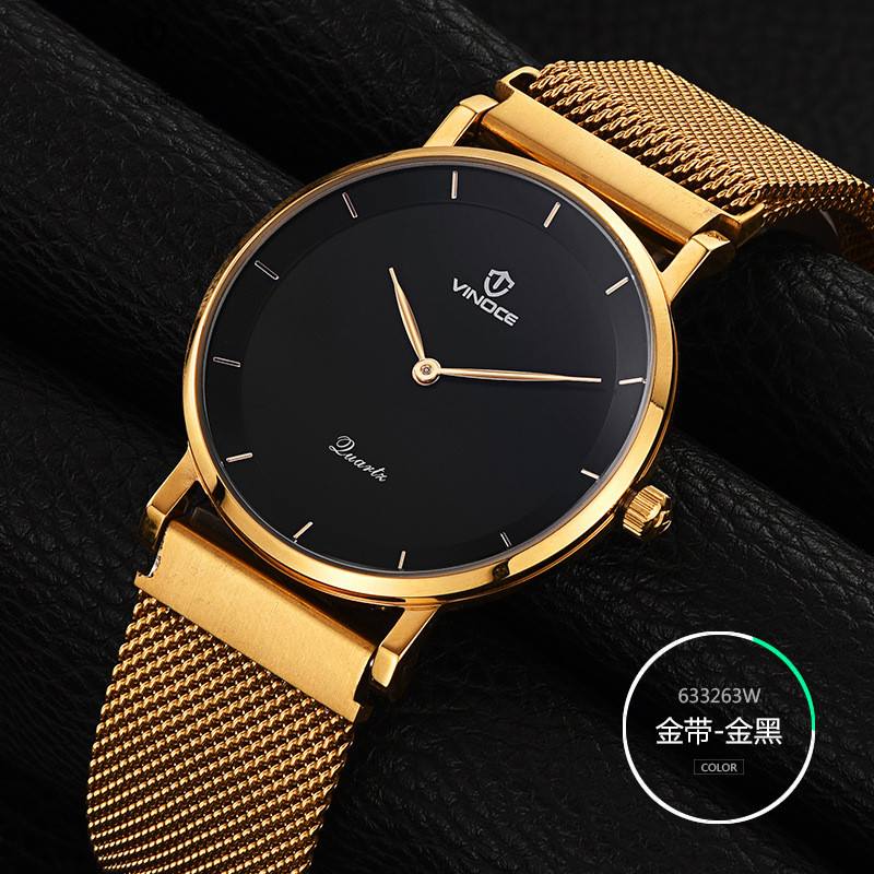 New Fashion top luxury brand VINOCE watches men quartz-watch Stainless Steel ultra thin dial clock relogio masculino new fashion brand round dial black couple watch men luxury stainless steel casual quartz watches relogio masculino clock hot