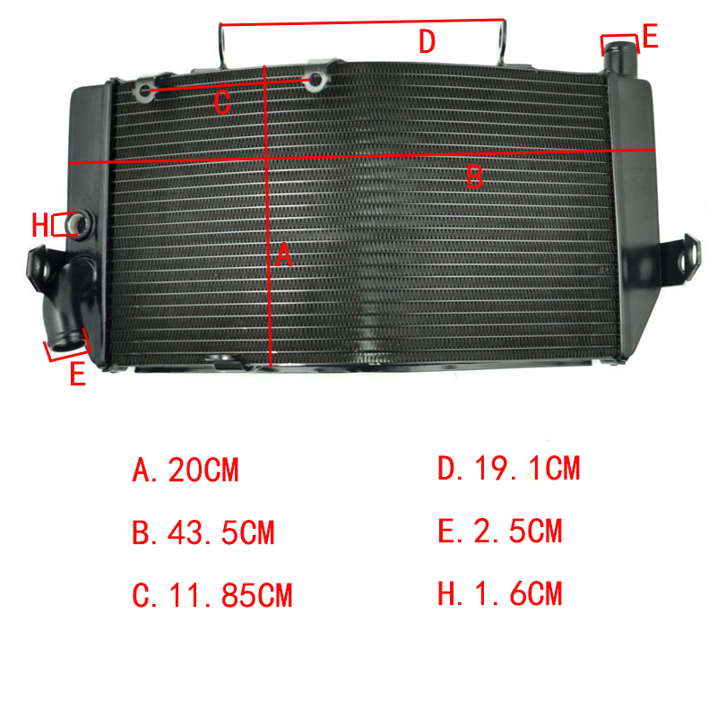 LOPOR Motorcycle Replacement Oil Aluminum radiator For Honda CBR600 F3 1995 1996 1997 1998 Engine Cooling