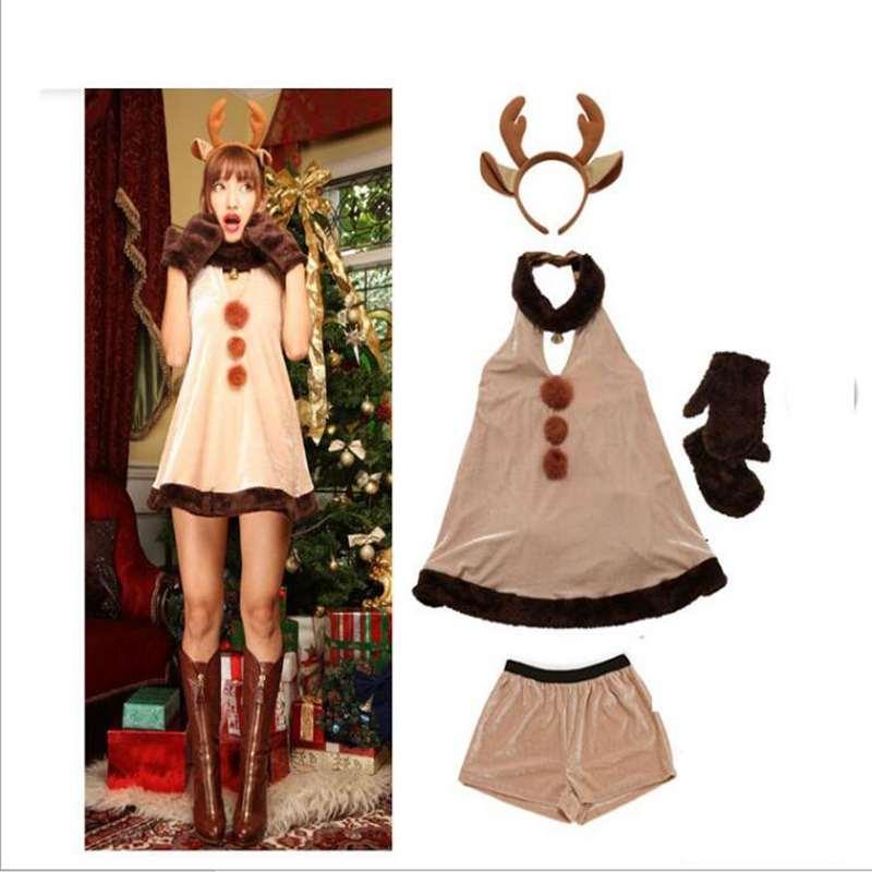 disfraces de halloween cosplay ropa de fiesta de navidad del reno de rol la actuaciones discoteca
