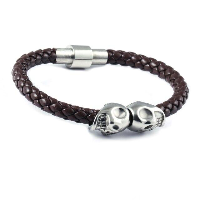 Northskull Skull bracelet - Brown Ce2JxvPx