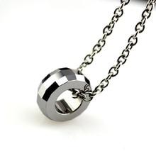 Tungsten карбида ожерелье & подвески простой стиль лаки бусы для женщин девушка водонепроницаемый ювелирные изделия tu013p