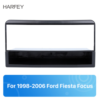 Harfey 1Din Car GPS Panel Autoradio Fascia Mount Kit for 1998 1999-2006 Ford Fiesta Focus Stereo Adapter Car-styling Frame Trim image