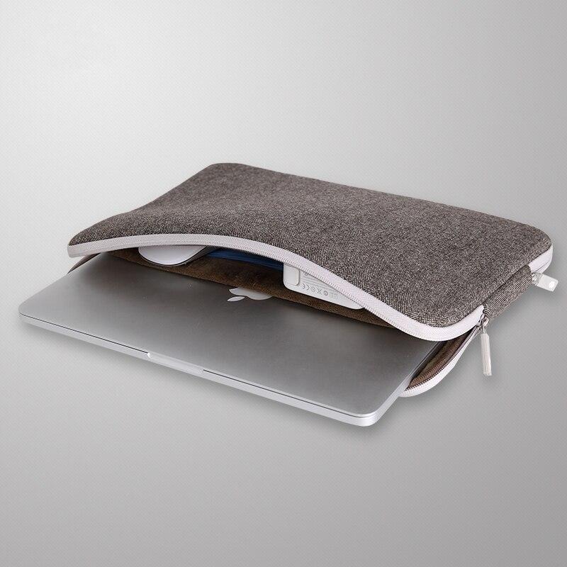 London Classic Sleeve For Macbook 11 12 13 15 14 Black Brown Colors Laptop Bag Felt Case For Macbook Pro 13.3 Air Retina 15.6