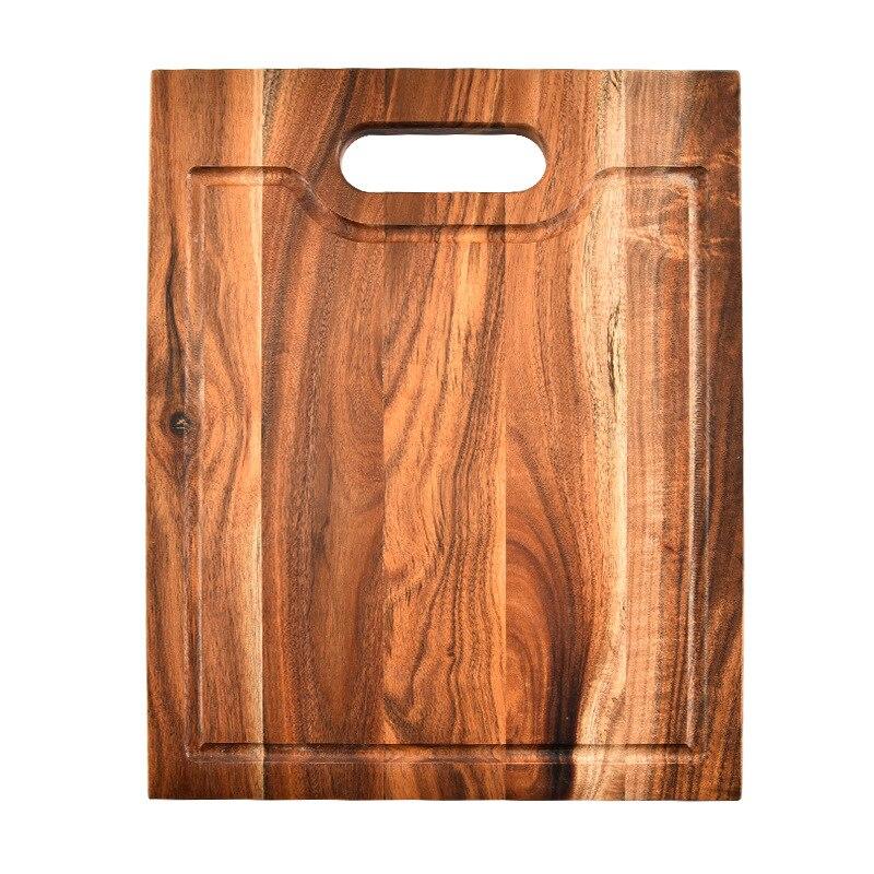 Planche à découper en bois d'acacia épais de première qualité avec rainure, planches à découper pour légumes, Fruits, viande et fromage