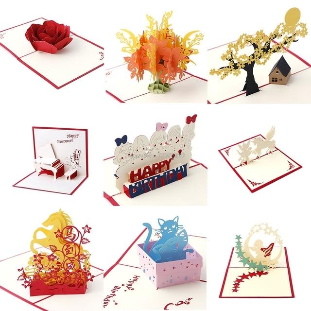 Aliexpress buy 3d pop up greeting card handmade happy birthday 3d pop up greeting card handmade happy birthday merry christmas card gifts m4hsunfo