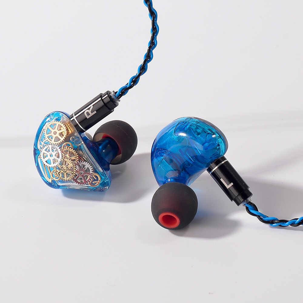 TONEKING TS5 4BA z 1 DD w ucho słuchawki douszne słuchawki kolorowe biegów wykonane na zamówienie hybrydowy wokół uszu słuchawki z MMCX Plated słuchawki